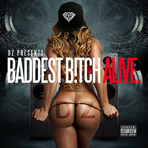 Baddest Alive Mixtape Covers, mixtape cover, mixtape designer